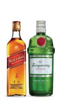 Combo: Tanqueray Dry Gin 700 ml + Johnnie Walker Red Label 750 ml